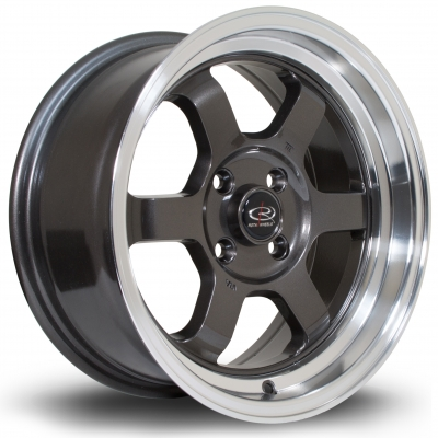 Rota Wheels - Grid-V Royal Gun Metallic (15x7 inch)