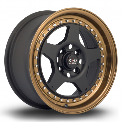 Rota Wheels - Kyusha Flat Black Sports Bronze Lip (15 inch)