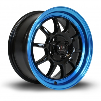 Rota Wheels - GT3 Black Candy Blue Lip (15 Zoll)
