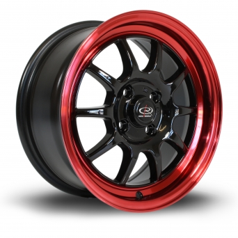 Rota Wheels - GT3 Black Candy Red Lip (15 Zoll)