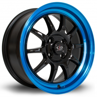 Rota Wheels - GT3 Black Candy Blue Lip (16 inch)