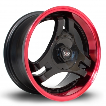 Rota Wheels - HM3 Black Candy Red Lip (15 Zoll)