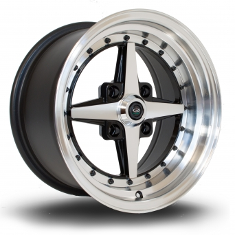 Rota Wheels - Zero Plus Polished Face Black (15 Zoll)