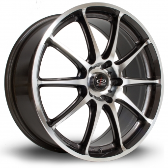 Rota Wheels - GR-A Polished Face Gun Metal (17 inch)
