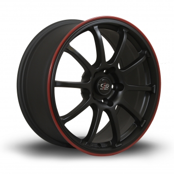 Rota Wheels - G-Force Flat Black Red Lip (17 inch)